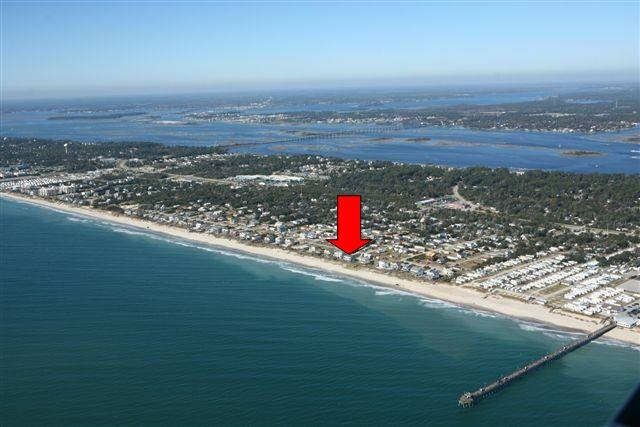 Aerial View - Crystal Charm- East - Emerald Isle - rentals