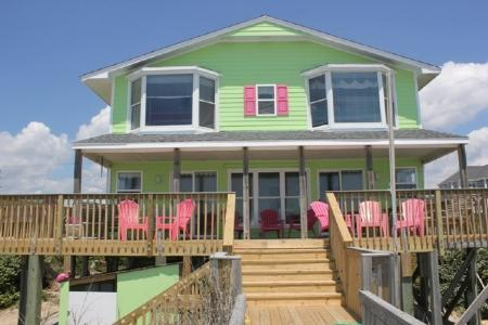 Exterior Oceanfront  - Pink Flamingo - Emerald Isle - rentals
