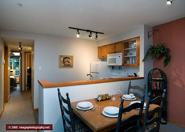 Dining/Kitchen Area - 88 Glaciers Reach this 2br home has a hot tub & pool in Whistler Village - Whistler - rentals