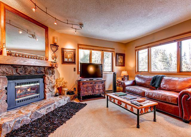 Woods Manor Living Room Breckenridge Lodging Vacation Rentals - Woods Manor 103B Condo Breckenridge Colorado Vacation Rental - Breckenridge - rentals