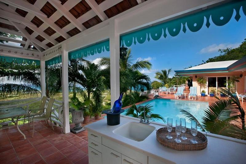 Gazebo looking out to pool and patio deck - Villa des Great Chefs - Beautiful and private! - Christiansted - rentals