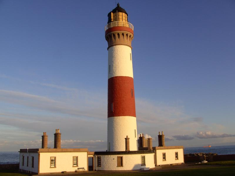 """Skerry Cottage at the base of the lighthouse - Buchan Ness lighthouse,""""Skerry Cottage"""" - Peterhead - rentals"""