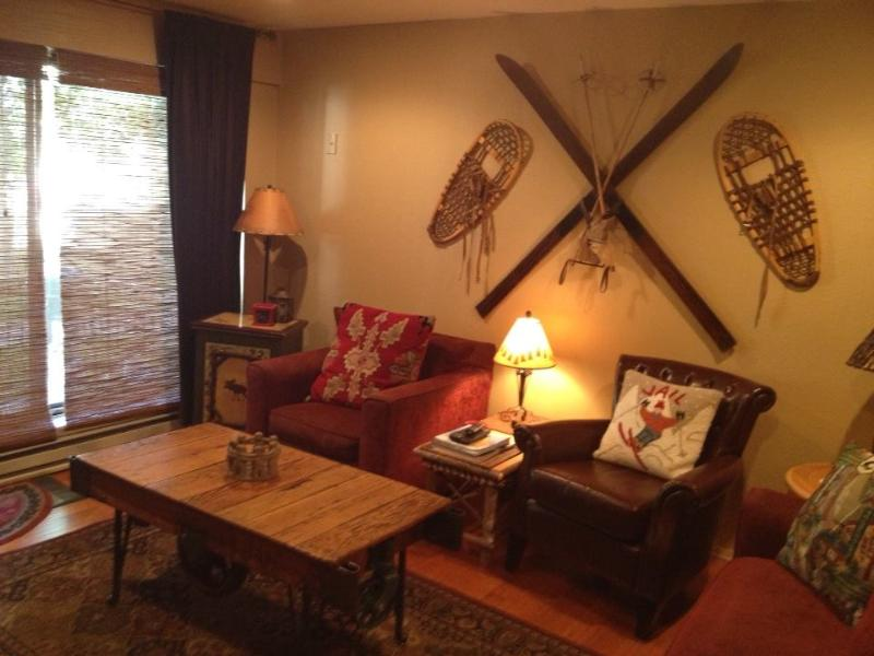 Living room - Avon condo on Nottingham Lake, 3 blocks to Gondola - Avon - rentals