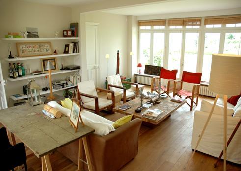 The living area is bright and cheerful - Saint Briac Sur Mer - Saint-Briac-sur-Mer - rentals