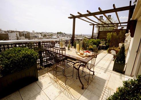 Large terrace - 3 Bedroom Eiffel Tower Rooftop Terrace - Paris - rentals