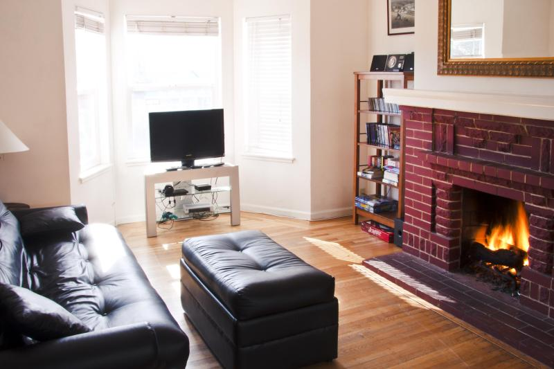 Sitting Room with Cozy Fireplace - Fantastic Apt, Close to G.Gate Park & Beach, WiFi - San Francisco - rentals