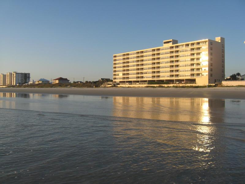 View of Condo from Ocean - Beautiful Beachfront Condo-Ponce Inlet - Daytona Beach - rentals