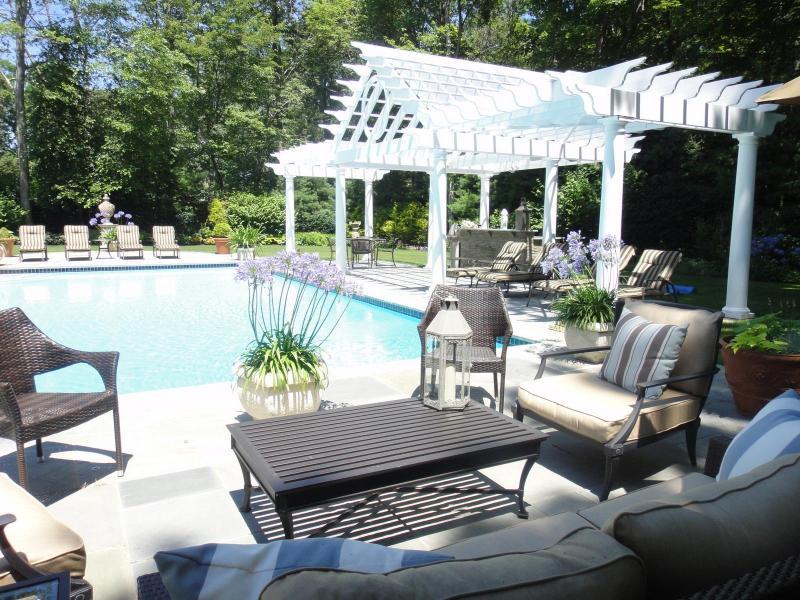 Pool Deck - Elegant Designer Hamptons Retreat in Sag Harbor - Sag Harbor - rentals