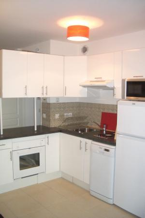 The kitchen equipped with modern amenities - Bristol Orange, Superb 1 Bedroom Apartment in Cannes - Cannes - rentals