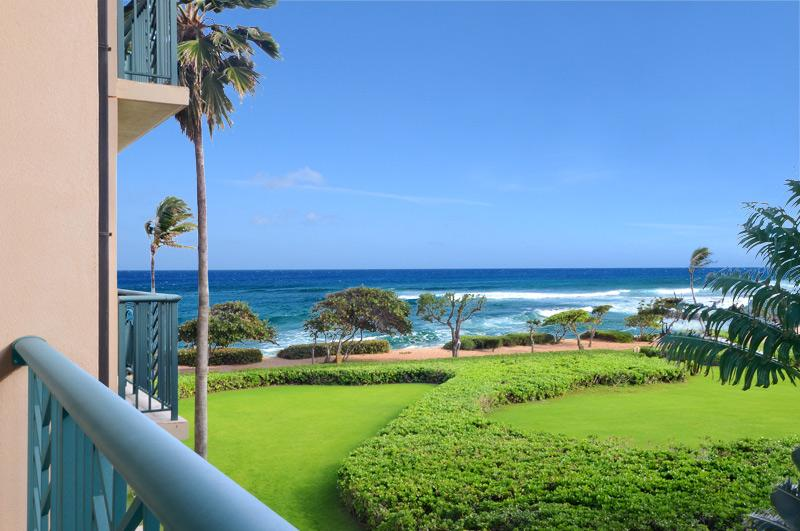 The actual ocean view from the balcony / lanai - Luxurious Ocean View Vacation Condo with Fine Art! - Kapaa - rentals