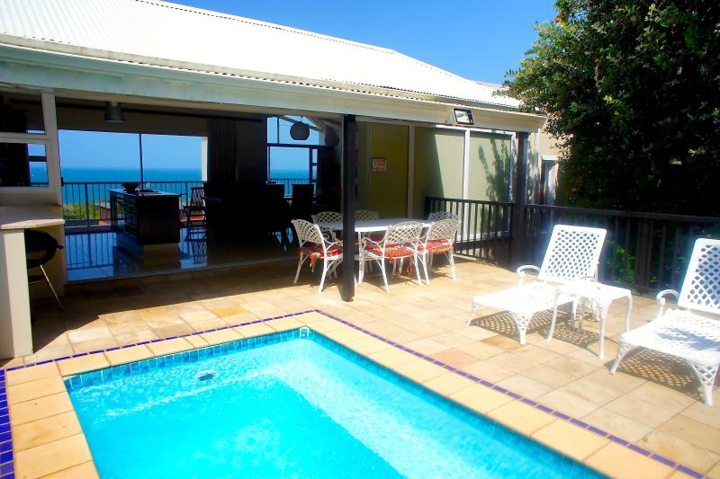 Pool & Terrace & View to Ocean at front of House - Beachhaven villa: Private pool, Ocean views, Wifi - KwaZulu-Natal - rentals