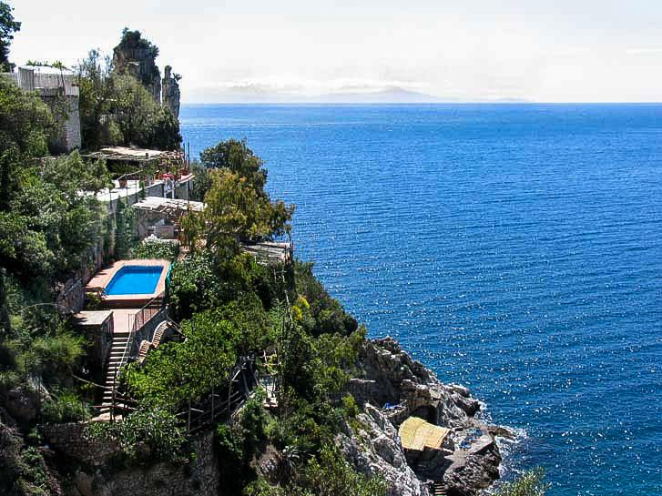 Villa Madonnina with parking, pool, platform at the sea - Unique, luxury Villa la Madonnina Amalfi coast - Furore - rentals