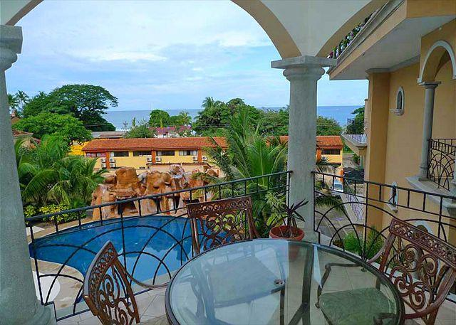Patio View - Moderm 2 bedroom condo, steps from the beach with wonderful ocean views - Tamarindo - rentals
