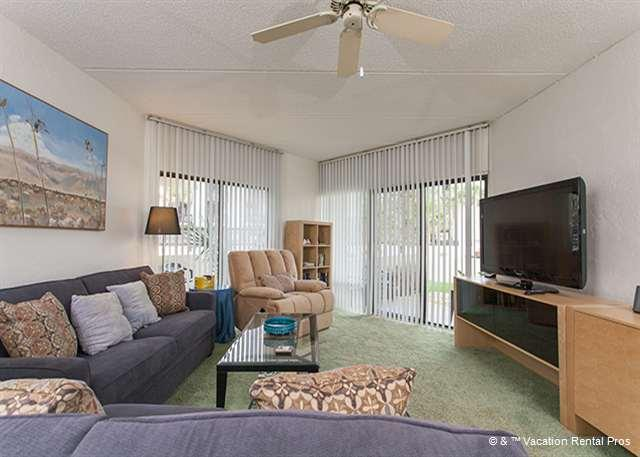 Our brand new furnished living room is ready with HDTV! - Island House H 119 Ground Floor Unit HDTV, Pool, St Augustine FL - Saint Augustine - rentals