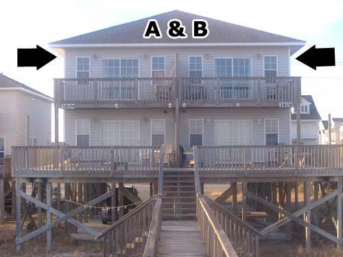 Exterior - Bookhardt, 3804 & 3806 Island Drive - North Topsail Beach - rentals