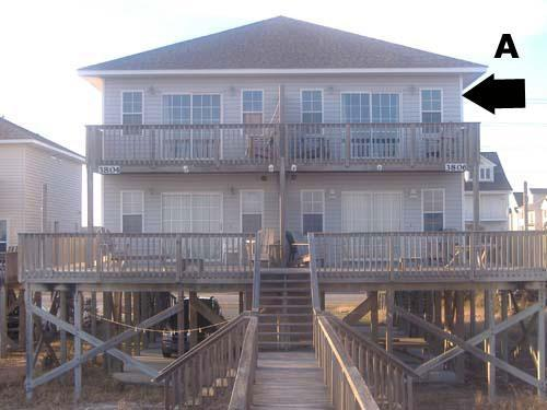 Exterior - Bookhardt North 3806 Island Drive - North Topsail Beach - rentals