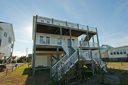 Canal Side view of Three Seasters - Three Seasters Canal Front - Surf City - Surf City - rentals
