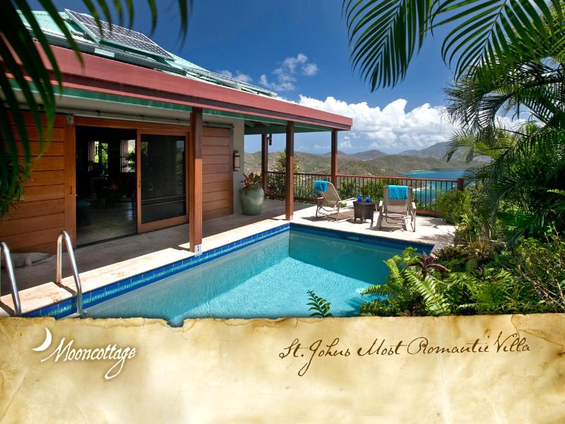 Graceful & petitie Caribbean Villa with solar-heated pool - Mooncottage: St. John's Most Romantic Luxury Villa - Coral Bay - rentals