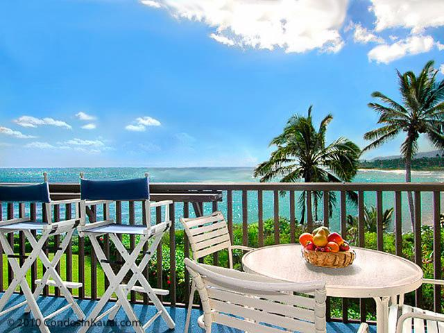 Lanai View - Deluxe Oceanfront Wailua Bay View 204 SPECIALS! - Kapaa - rentals