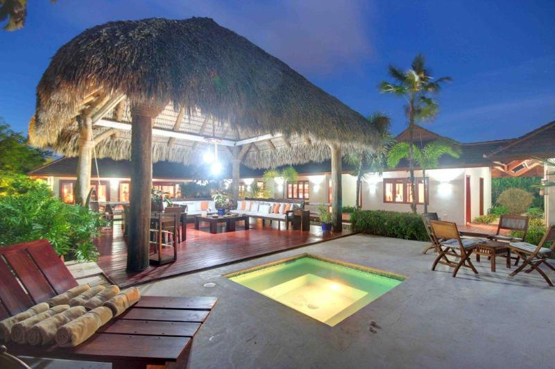 HoT Tub & Gazebo at Night - Ocean & Golf View 4 Bedroom Luxury Villa w/ Staff - Punta Cana - rentals