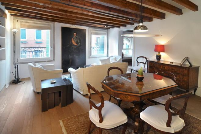 The sitting/dining room - Ca' Tintoretto - Venice - rentals