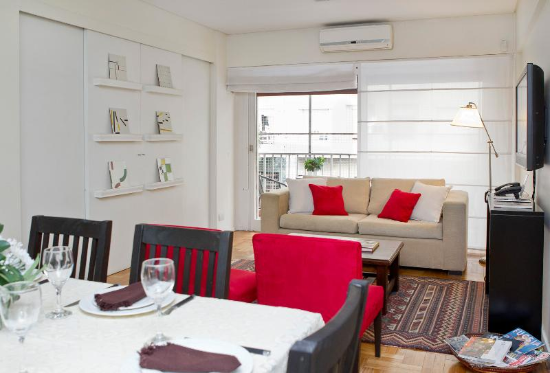 Living room opens to balcony. - As unique as you. Recoleta at its best! - Buenos Aires - rentals