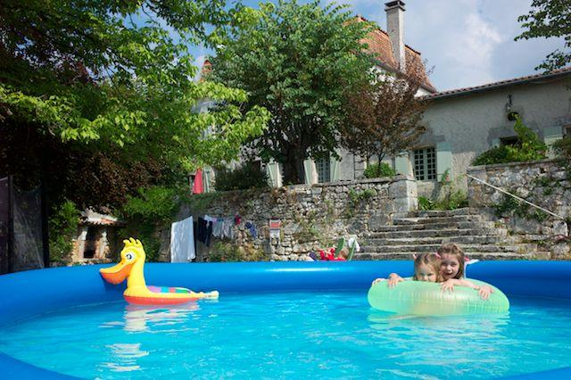 House with inflatable pool perched on Dordogne hill with stunning views. - Blanchardiere stunning Dordogne Farmhouse Brantome - Brantome - rentals