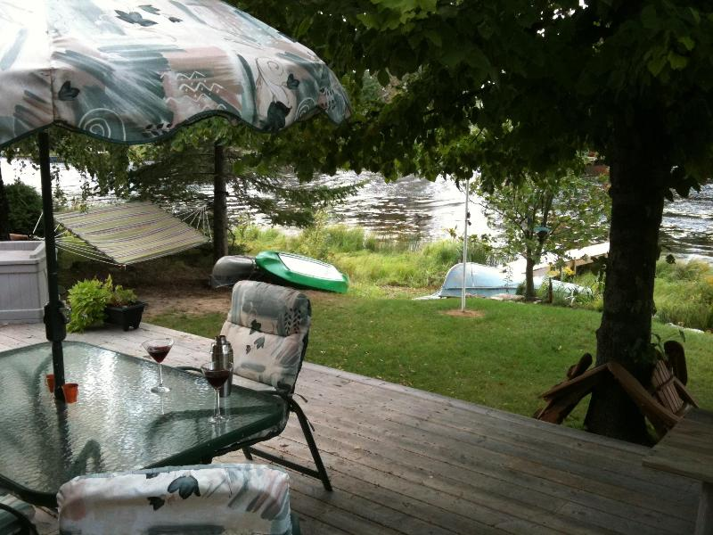 Large Deck overlooking the Sauble River - Sauble Beach Water Front Cottage - Sauble Beach - rentals