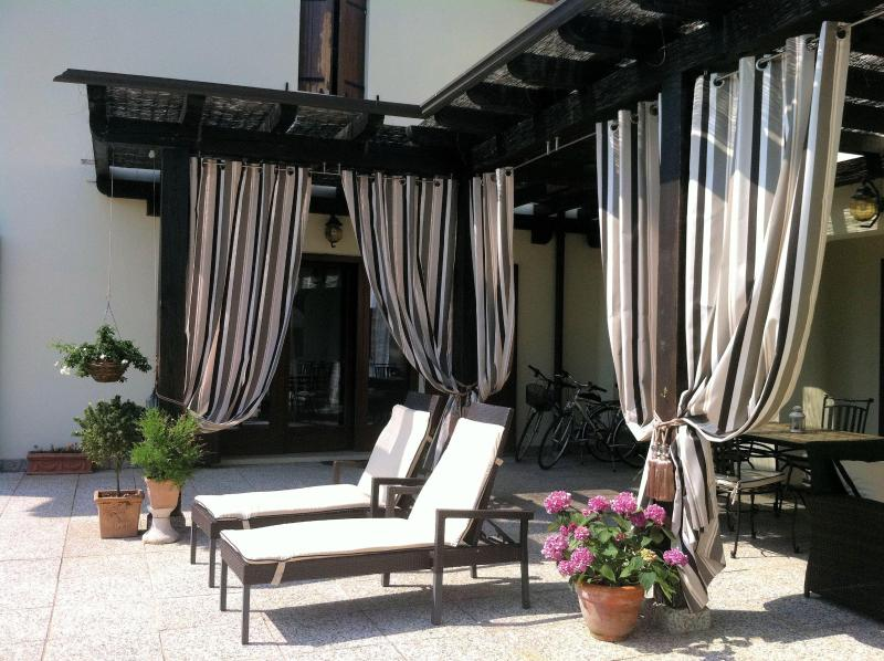 Luxury tanning terrace at Villa San Toma - Large Luxury Villa on Venice Mainland - San Dona Di Piave - rentals