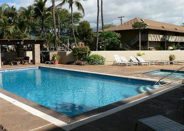 Pool, hot tub, bar b que area - Kihei Bay Surf #250  Studio Across From The Beach Great Rates !! - Kihei - rentals