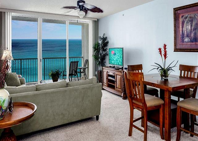 THIS LIVING AREA HAS GREAT VIEWS! - Beach Getaway for 6 with Amazing Beachfront Views - Panama City Beach - rentals