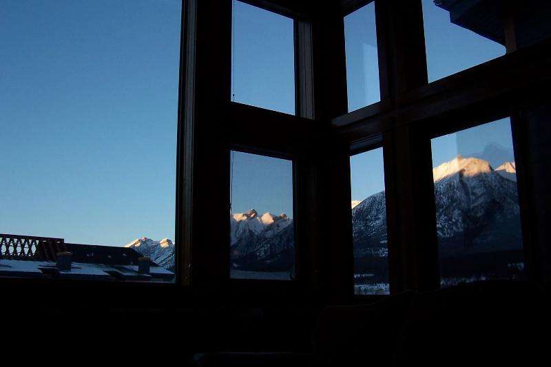 Stunning views from walls of glass in the living room! - WALLS OF GLASS, free GPS tour, wifi & Park Pass!! - Canmore - rentals