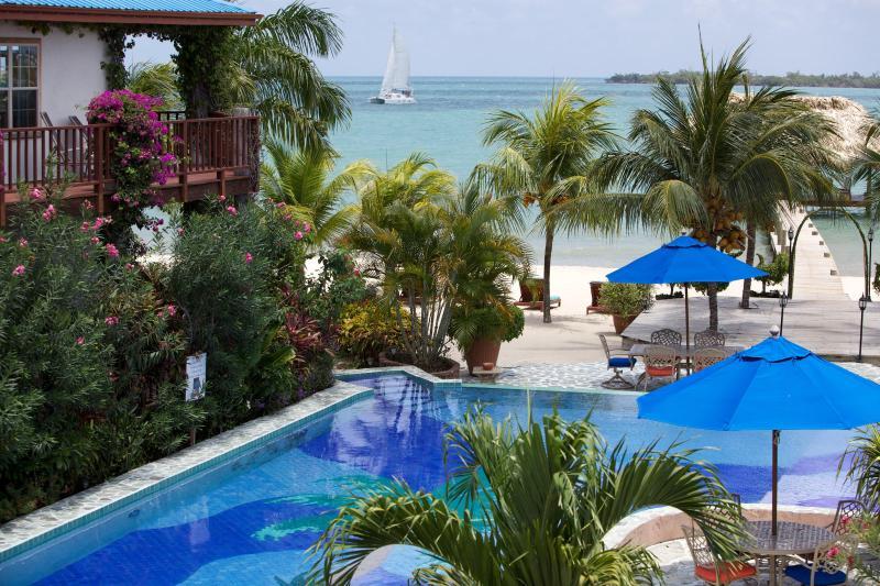 Belize Resort - Tropical and Caribbean View from Verandah - Villa At Chabil Mar - In Placencia Village - Placencia - rentals
