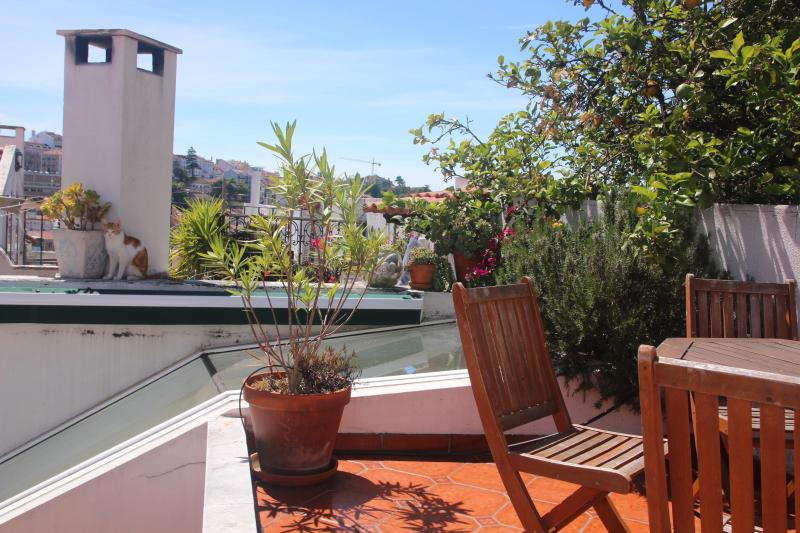 Eating area on the terrace - Casa Pátria - Private Garden Terrace, Free Wifi - Lisbon - rentals
