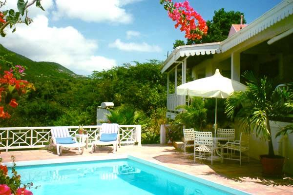 Gingerbread cottage with sunset ocean views and Mt. Nevis with guest cottage. KL FAR - Image 1 - Nevis - rentals