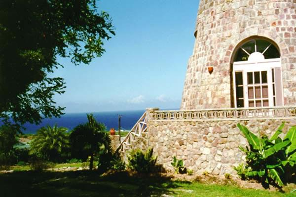 Historic mill with walk- out terrace overlooking the ocean. KL VER - Image 1 - Saint Kitts and Nevis - rentals