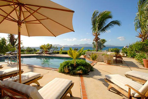 Overlooking the mountains of St. Martin, this secluded cove villa is perfect for sunning or swimming. RIC COY - Image 1 - Anguilla - rentals