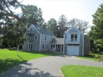 Front of house with large front yard, set far back from street - East Orleans Vacation Rental (18414) - East Orleans - rentals
