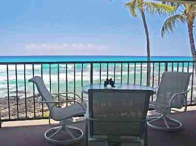Large Private Lanai on the Oceans Edge - Absolute Oceanfront Condo # 204 ~ FREE parking~A/C - Kailua-Kona - rentals