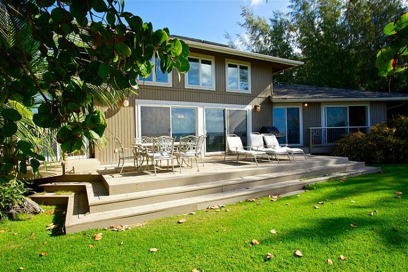 Kimsey House: Exterior View - The Kimsey Beach House - Luxury Beach Front Home - Kekaha - rentals