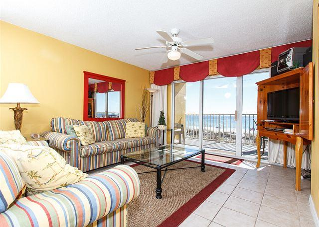 Living Room - GD 208 NEWLY UPDATED WITH PERFECT VIEWS! MORE UPGRADES TO COME!FREE BEACH SVC - Fort Walton Beach - rentals