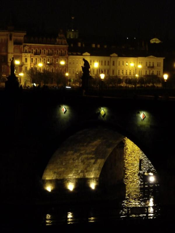 Night view of Charles Bridge from dining room - Most Romantic Apartment- Great reviews! - Prague - rentals