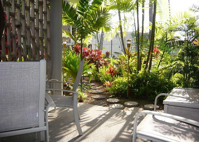 Lanai off the Dining Room - Alii Villas 107 - No Stairs! Great Deal! - Kailua-Kona - rentals