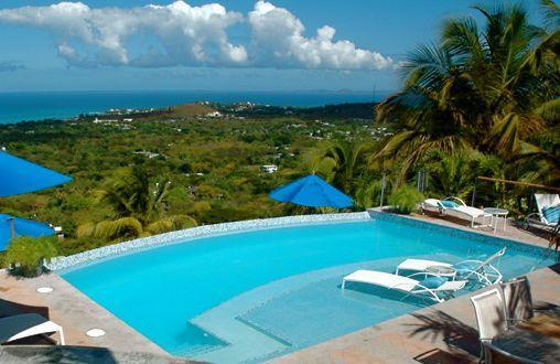 The pool at Vista Dos Mares overlooking the Atlantic Ocean. - Andy's Vista dos Mares - Isla de Vieques - rentals