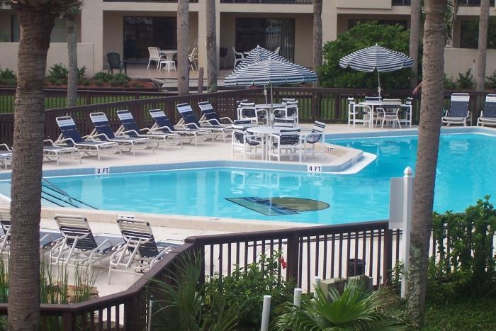 View from Balcony - Spacious 3 BR Condo..Steps to Ocean!  WiFi - Saint Augustine Beach - rentals