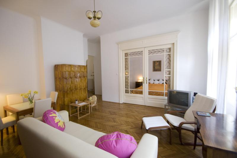 Living room - City center, free wi-fi, children stay free - Budapest - rentals