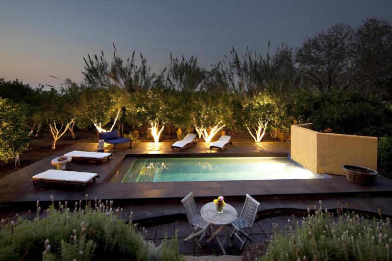 Salt water pool at dusk - Bodrum Retreat,  in the Clouds, Herakleia Suite - Bodrum - rentals