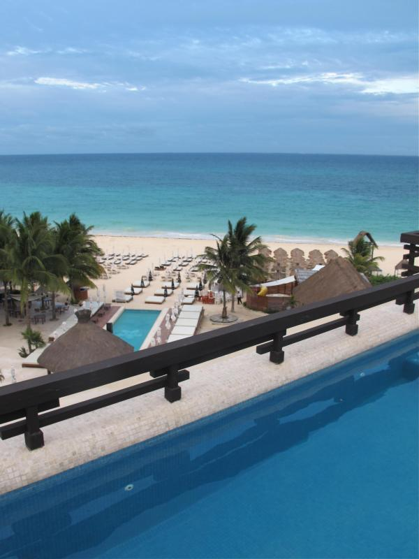 Looking from private rooftop pool - Aldea Thai Beachfront, 2 Bdrm Penthouse in Front! - Playa del Carmen - rentals