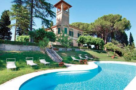 Hilltop Bellavista- elegant antique tower with 360° view & courtyard pool - Image 1 - Pisa - rentals