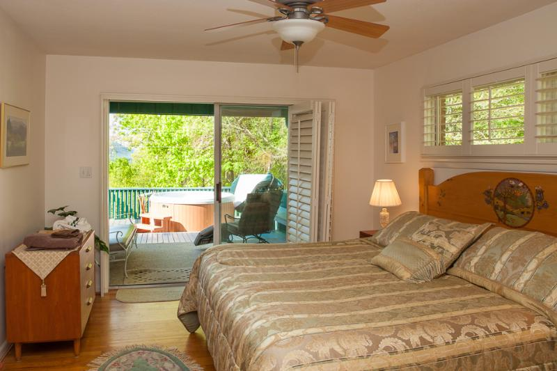 Master Bedroom and Hot Tub on Cloud 9 - Cloud 9 Relaxation-Mountaintop Views-Hot Tub-Peace - Asheville - rentals